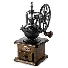 Retro Tarzı Kahve Değirmeni El Taşlama Makinesi El-krank Silindir Manuel kahve değirmenleri Z30