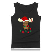 LUCKYFRIDAYF Kpop Hip Hop New Christmas print Fashion Tank Top Men Summer Cool Casual Sleeveless Vest Clothes Plus Size