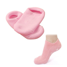 2Pcs Pink Moisturize Soften Repair Cracked Skin Gel Socks Skin Moisturizing Gel Spa Socks Foot Care Tools Foot Massager C148