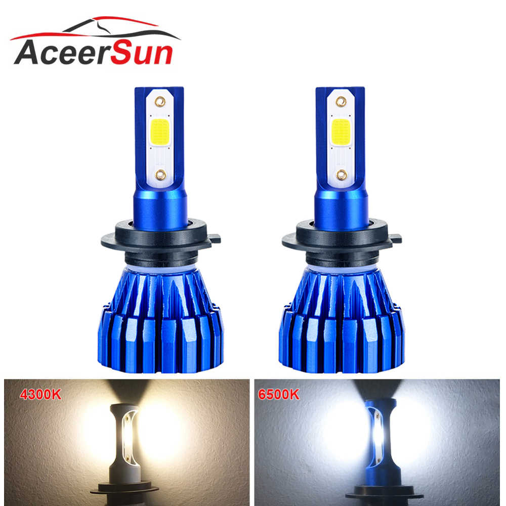 Foxcnsun 2Pcs H4 LED H7 H11 H8 HB4 H1 H3 HB3 Auto Car Headlight Bulbs 50W 10000LM 6500K 4300K led automotivo car lights auto 12V