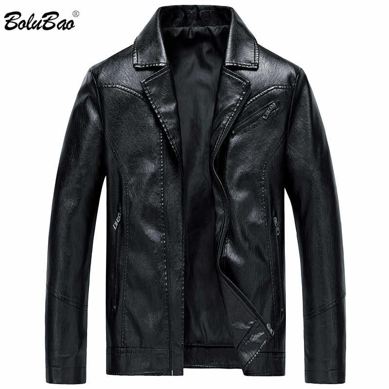 BOLUBAO Men Winter Turndown Leather Jackets Men's Business Casual Style Motorcycle Fur Male Leather Suede Jackets Coats