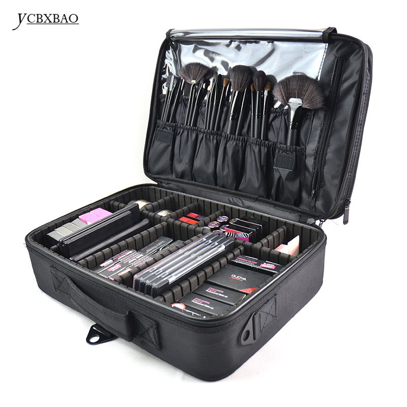 YCBXBAO Waterproof Cosmetic Bag Professional Cosmetic Makeup Bags and Cases Large Capacity Storage Case Multilayer Suitcases portable cosmetic bag suitcases makeup beauty professional multi function cosmetology tattoo eyebrow teacher manicure case