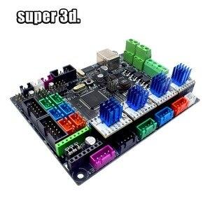 Image 4 - 3D Printer Parts MKS Gen V1.0 Control Board Mega 2560 R3 motherboard RepRap Ramps1.4+A4988/TMC2130/TMC2208/DRV8825 Driver