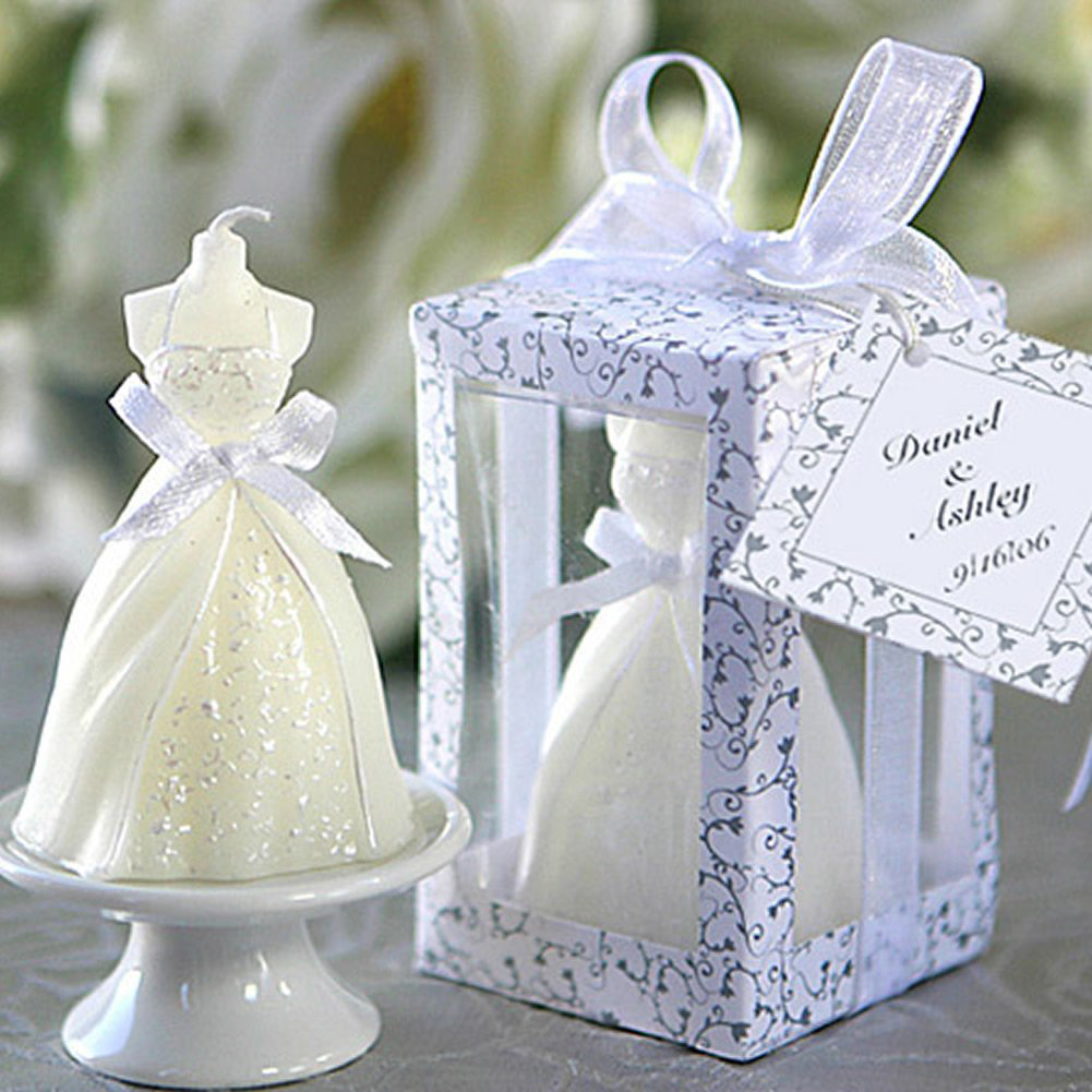 EZLIFE Boxed Bridal Bride Shape Candle Wedding Party Favors Decor ...
