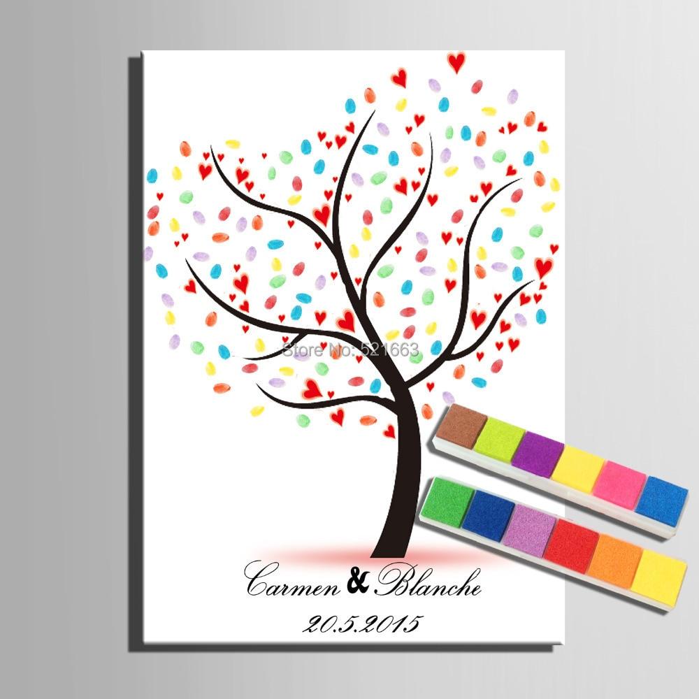 Árvore da impressão digital assinatura impressão digital de - Para feriados e festas