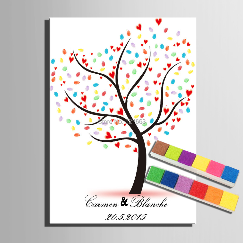 Fingerprint Tree Signature Fingerprint Signature Canvas Print Tree