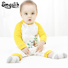 Фотография Winter Newborn Baby Clothes Long Sleeve baby boy christmas Romper Jumpsuit Baby Girl Overalls Patchwork Infant Clothing pajamas
