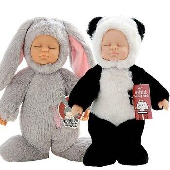 25 см силиконовая кукла reborn baby doll 17 дюймов спящие Младенцы closplay кролик розовый белый Рождественский подарок для детей