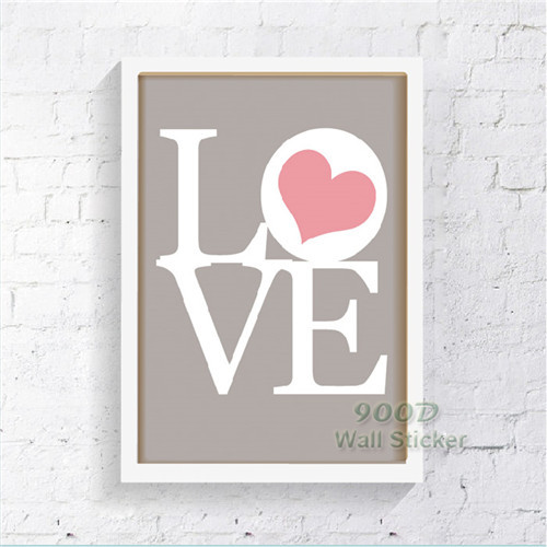 Love Quote Canvas Painting Poster, Wall Pictures For Living Room Home  Decoration Print On Canvas