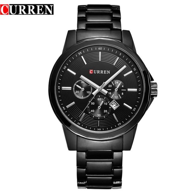 2016 Top Brand CURREN Cuarzo de Los Hombres A Prueba de agua Reloj Militar de Lujo masculino Relojes Militares Deportes de los Relojes de Pulsera del relogio masculino 8129
