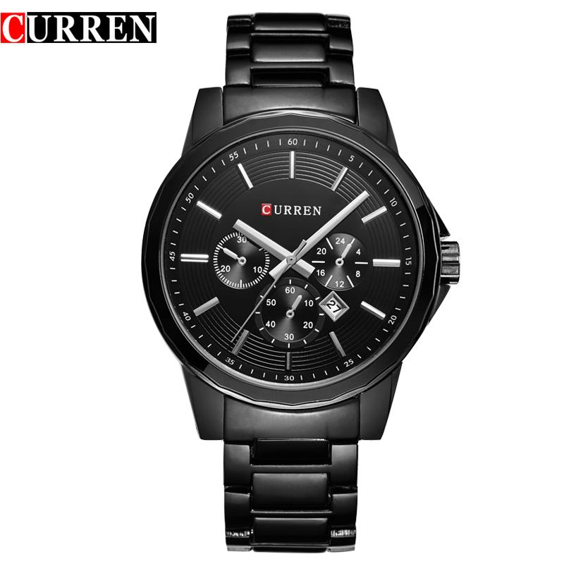 Prix pour Top marque curren hommes de montres à quartz montre hommes horloge étanche de luxe militaire sport montres relogio masculino 8129