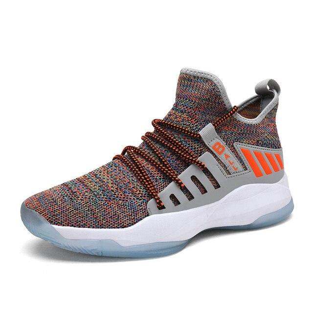 איש גבוהה למעלה ירדן כדורסל נעלי לנשימה Nonslip סניקרס גברים חדש סגנון עמיד הלם ירדן נעלי חיצוני טניס מאמני