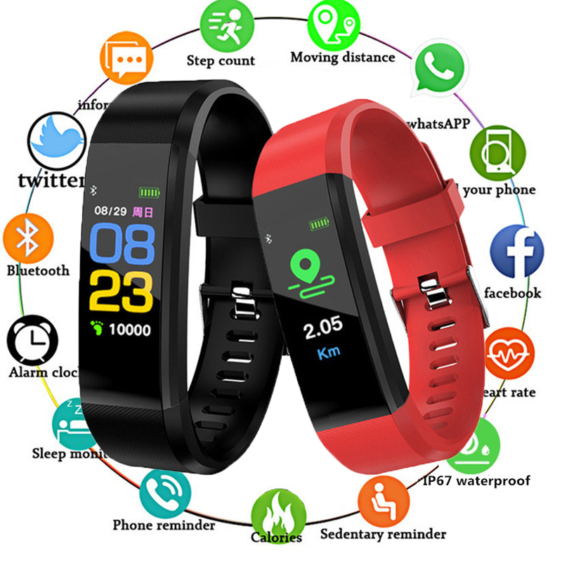 2019 Smart Bracelet Heart Rate Monitor Blood Pressure Monitor Fitness Watches Step Counter Message Push Pk Fitbits Mi Band 2 32019 Smart Bracelet Heart Rate Monitor Blood Pressure Monitor Fitness Watches Step Counter Message Push Pk Fitbits Mi Band 2 3