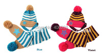 Children Cap And Scarf Set Beanies Five Star Two Piece Suit Hat Beret Baby Winter Hats