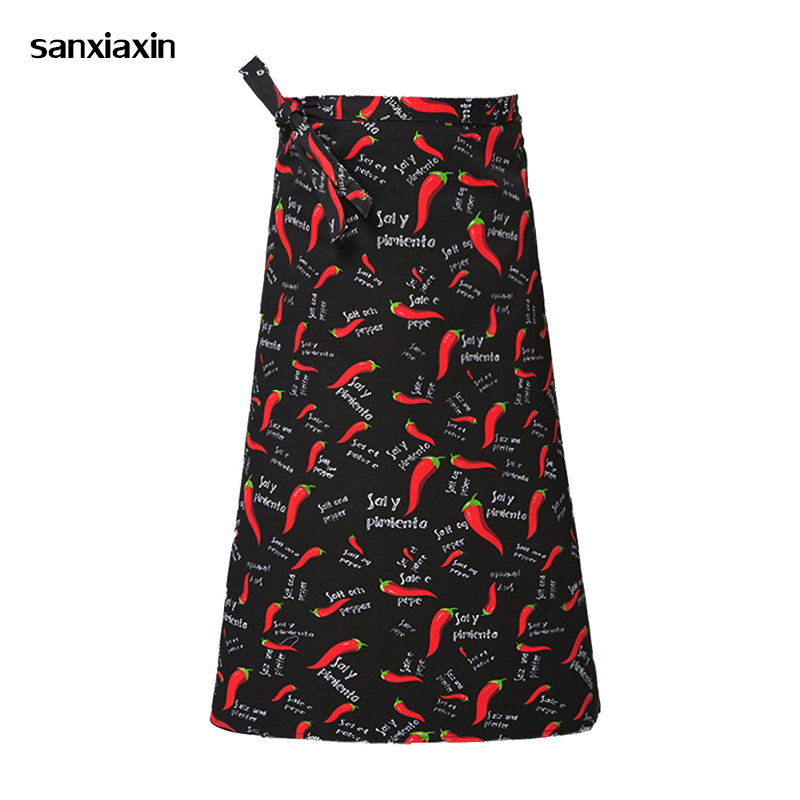 Sanxiaxin Restaurant Kitchen Apron Adjustable Half Body Male Adult Apron Striped Hotel Chef Waiter Short Kitchen Cooking Apron