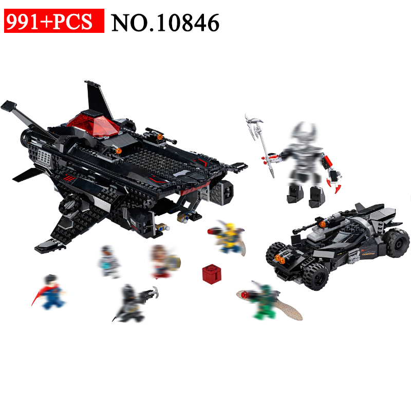 NEW 10846 super hero Models building toy 991pcs Batmobile Airlift Attack Building Blocks Compatible with 76087