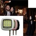 Lámpara linterna led para la cámara del teléfono celular portátil teléfono múltiple selfie fotografía 16 led led de luz de relleno para ios android