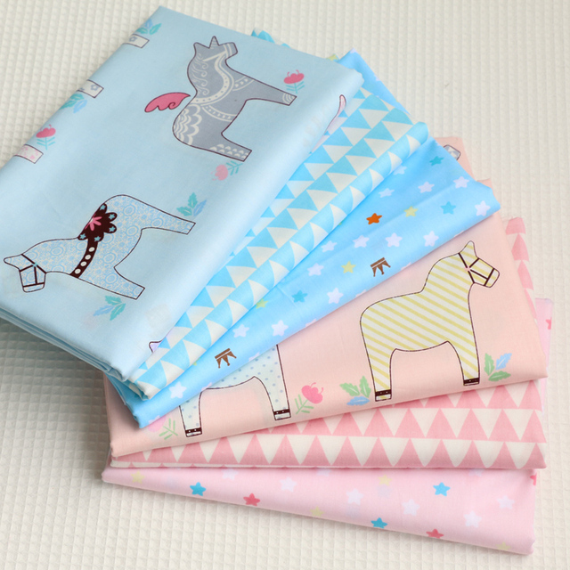 100% Baumwolle Pferd stoff Tuch für Nähen Patchwork Muster Fabrics ...
