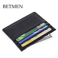 male designer wallets 9ywn  BETMEN Fashion Mini Credit Card Holder Slim Genuine Leather Men Card Case  Wallet