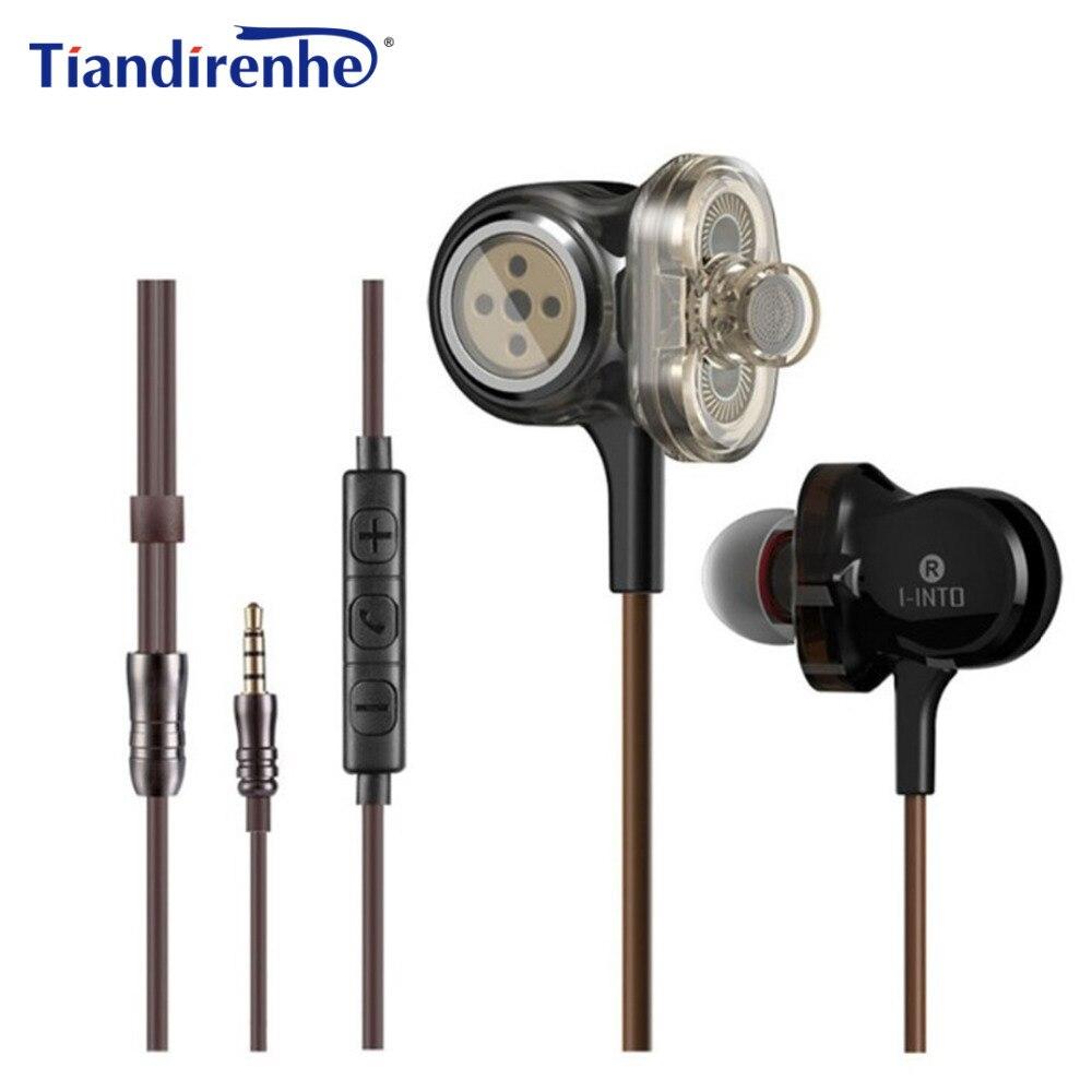 Tiandirenhe I-INTO I8 Dynamic Earphone 3 Unit Drive HIFI Stereo Bass DJ Muisc Sport Headset for iPhone xiaomi Android IOS PC MP3 tiandirenhe 14