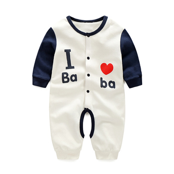 YiErYing Baby Romper Clothes Spring Autumn Outfit Cotton Newborn Letter Print Long Sleeve Conjoined  Jumpsuits