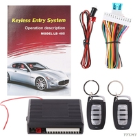 Universal Car Systems Auto Remote Central Kit Door Lock Vehicle Keyless Entry System Central Locking With Remote Control|Burglar Alarm|Automobiles & Motorcycles -