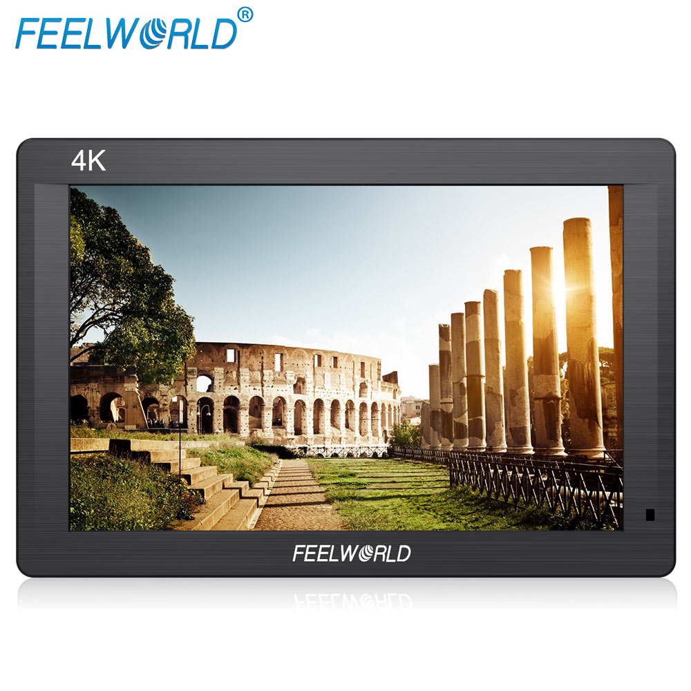 Feelworld FH7 7 IPS 4K 1920x1200 Full HD Camera Field Monitor with HDMI 4K UHD Input Output Peaking Focus Histogram Zebra Audio aputure vs 5 7 inch sdi hdmi camera field monitor with rgb waveform vectorscope histogram zebra false color to better monitor