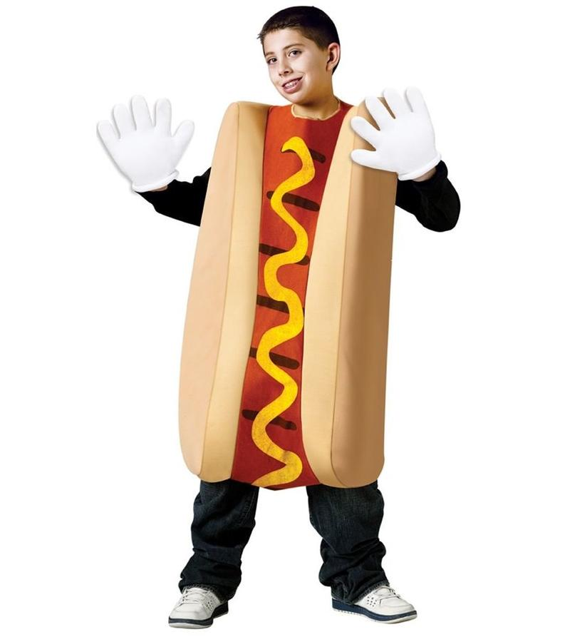 Lower Price with Hot Dog Cosplay Costumes Kids Adult Sandwich Clothing Halloween Party Dress Outfit Funny School Drama Performance Food Dress
