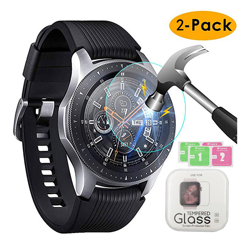 2pcs Tempered Glass For Samsung Galaxy Watch 42mm 46mm Gear S2 S3 Screen Protector Cover Protective Film Band + Cleaning Kit