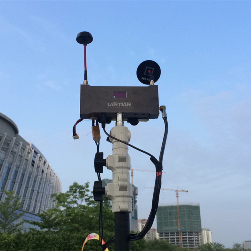 Actualización Lantian 40CH canal 5,8G receptor externo AV de doble manera RX con DVR Video registro pantalla LED para racing Quadcopter Drone - 6