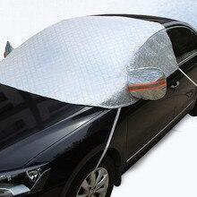 YIKA Universal De Aluminio Nieve Cubre la mitad Del Coche cubierta De Aluminio Reflectante Parabrisas Nevadas Bloquearon Anti-UV Para SUV Auto Común