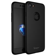 IPaky оригинальный ультра тонкий 360 всего тела Защитная крышка чехол для телефона iPhone 7 Чехол + закаленное стекло Экран протектор