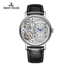2020 Reef Tiger nuevos relojes de diseño de moda relojes automáticos esqueleto acero Casual relojes para hombres RGA1995