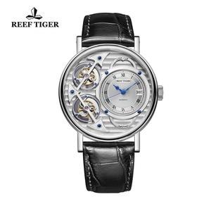 Image 1 - Часы Reef Tiger, автоматические, стальные, повседневные, для мужчин, 2020