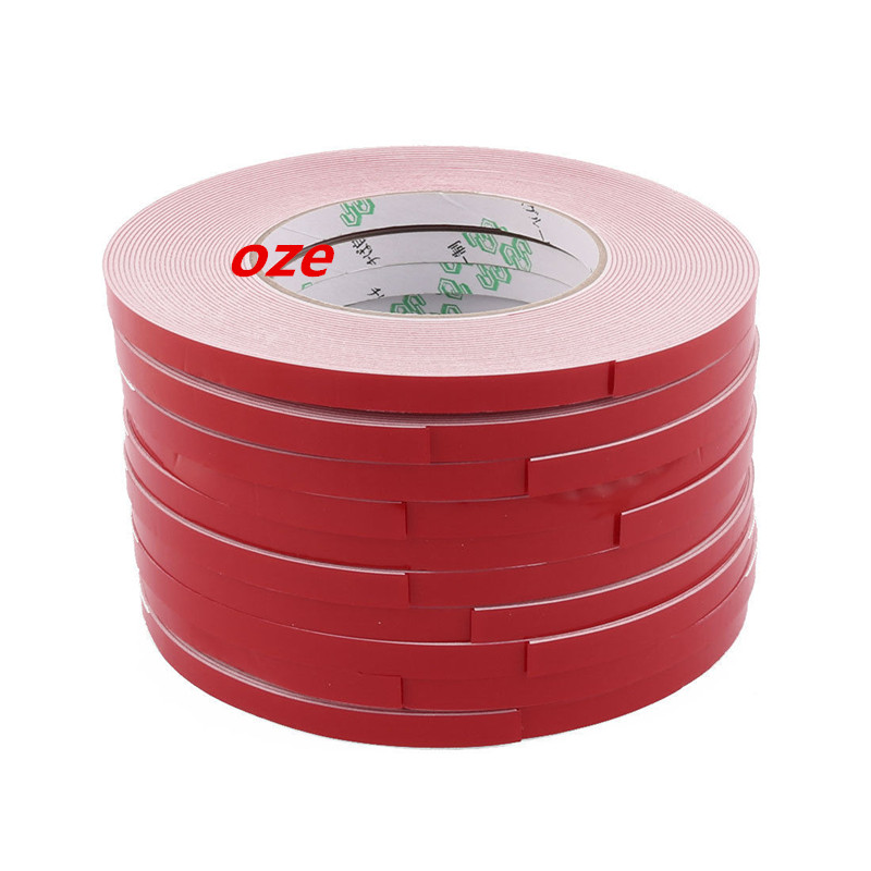 10pcs 10M Long 20mm x1mm Dual Sided Sponge Tape Adhesive Sticker Foam Glue Strip 10m 40mm x 1mm dual side adhesive shockproof sponge foam tape red white