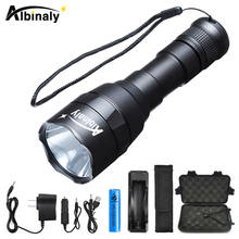 High end LED Flashlight IPX-7 Waterproof L2 LED Torch 5 Modes Adjustable Brightness use 18650 battery Used for camping hunting