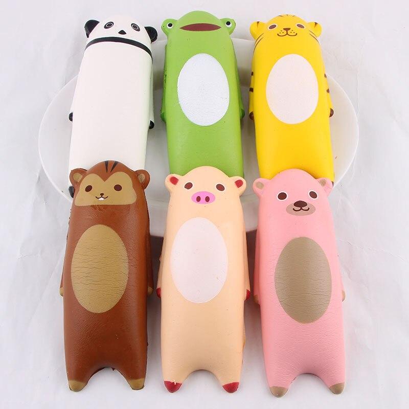 14 CM Kawaii Panda Bear Cartoon Animal Gags Squishy Slow Rising Relieves Stress Anxiety Phone Straps Wholesale Random Color P15