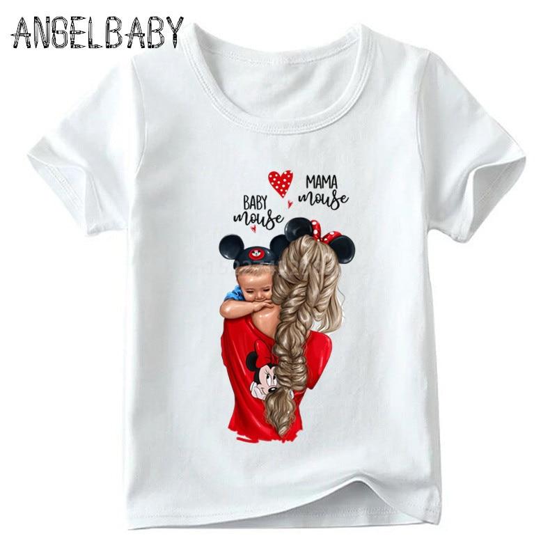 Одинаковые комплекты для семьи футболка для мальчиков и девочек с принтом супермамы и дочки одежда для подарка на День Матери Забавные футболки для детей и женщин - Цвет: 5281A
