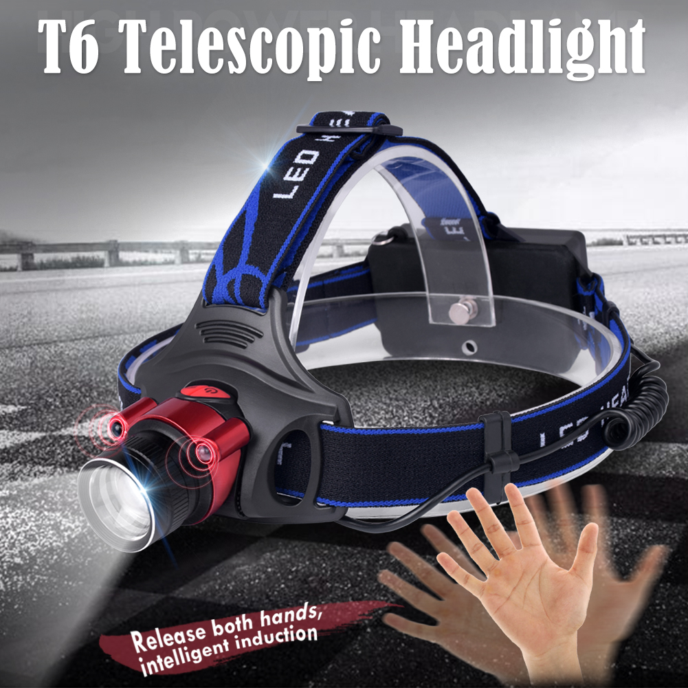 1000 Lumens LED Head Torch Headlamp CREE T6 Frontal Light LED Head Lamp Flashlight Torch Headlight 18650 Rechargeable Battery super 15000lm usb 9 cree led led headlamp headlight head flashlight torch cree xm l t6 head lamp rechargeable for 18650 battery