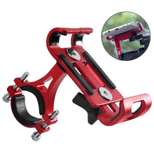 Aluminium Alloy Bicycle Phone Holder For Motorcycle Metal Mountain Bike Road 3.5 To 6.5 Inch Mobile