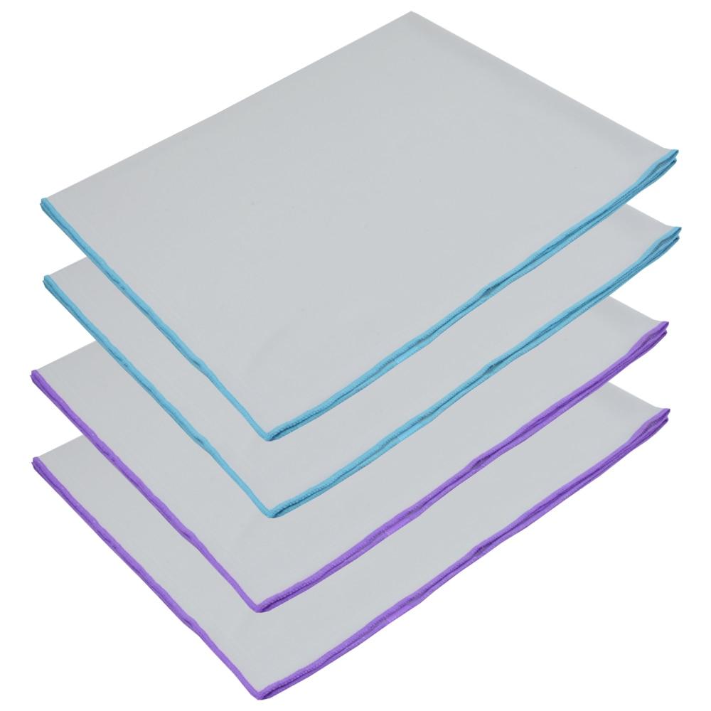 Sinland Toalha de Microfibra Panos De Polimento De Vidro Para Vinho Copos Taças Pratos de Aço Inoxidável Aparelhos 20 Polegada x25 Polegada 4 Pcs
