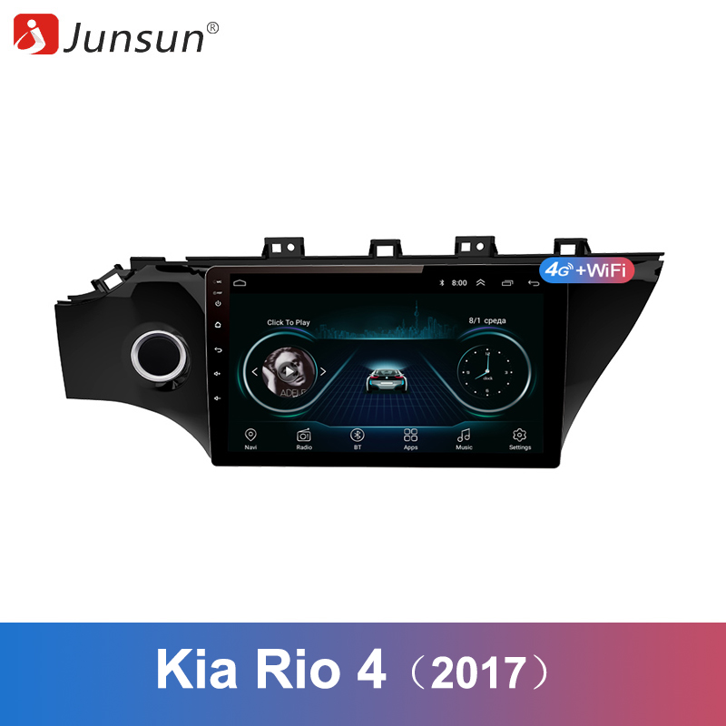Junsun 2 Din Multimedia Video Player Android 8 1 GPS Navigation Radio WIFI OBD2 For KIA
