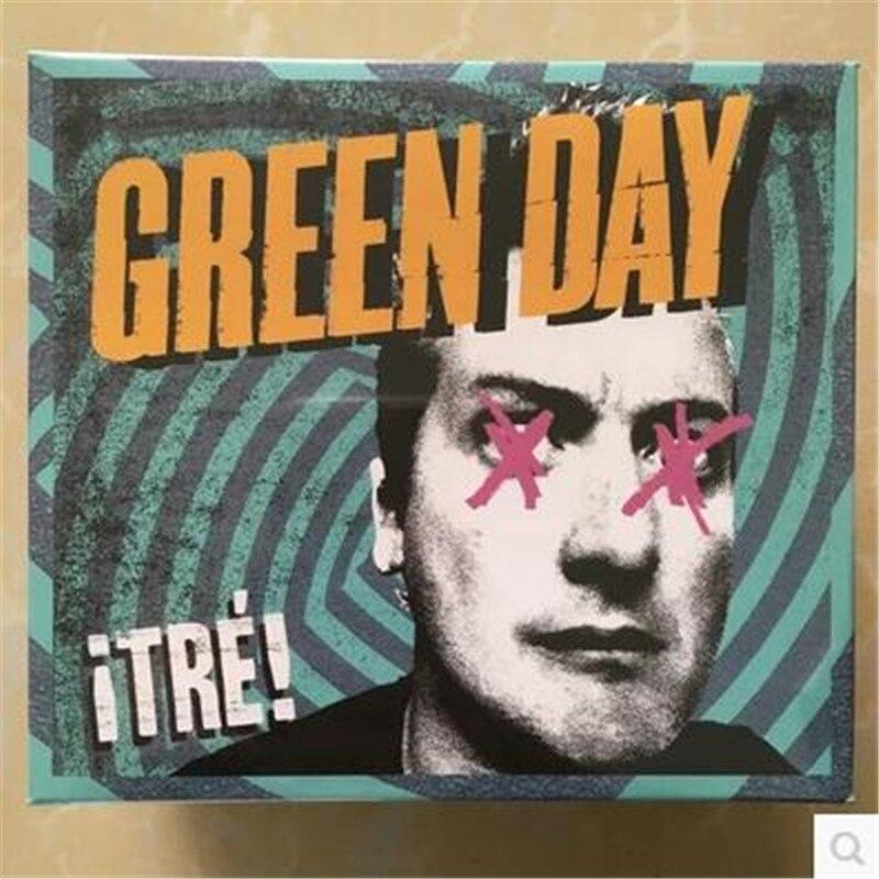 Free Shipping; Green Day Band Tre Green Day CD + T-SHIRT CD set, sealed комплект одежды для мальчиков sport clothes 2015 hh089
