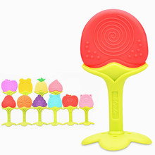 Baby Silicone Teethers Food Grade Silicone Teether Fruit Shape Baby Teething Silicone Teething Toys InfantChew Charms Tooth Toys