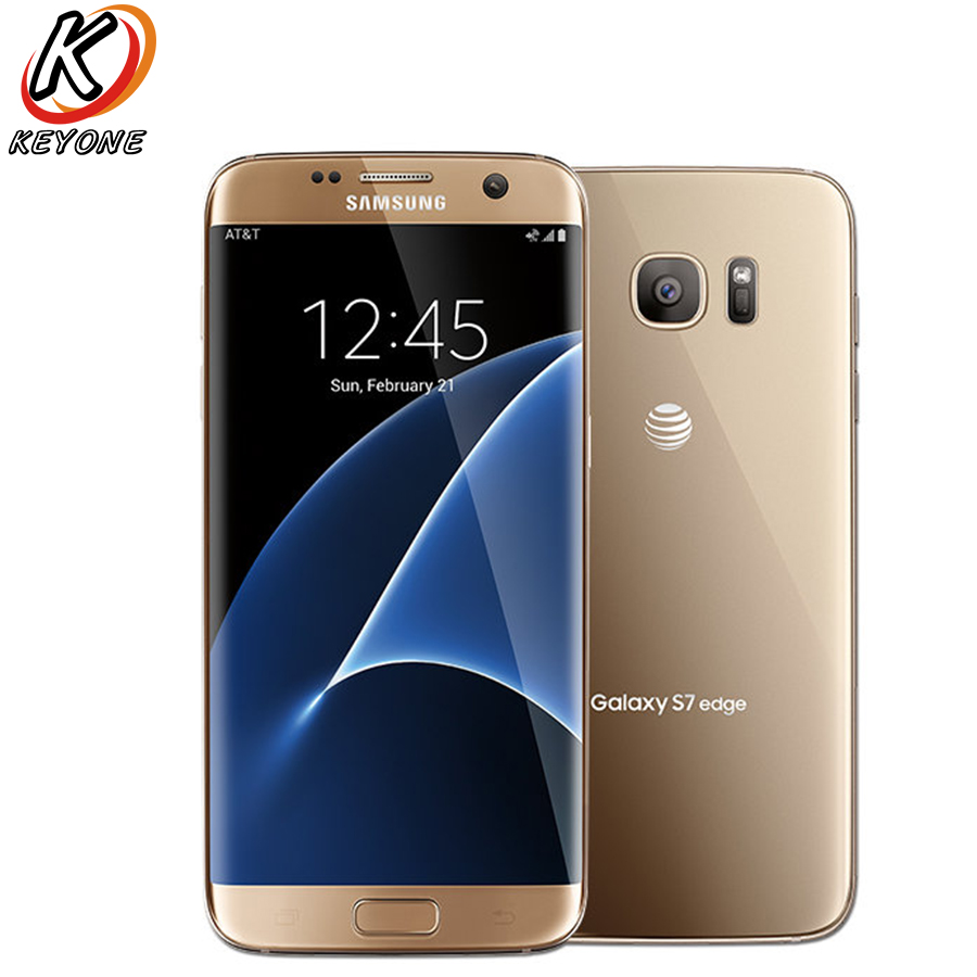 Original Versão AT&T Samsung Galaxy S7 Borda G935A LTE Mobile Phone 5.5 Quad Core 32 4 gb RAM gb ROM 12MP Android Telefone Inteligente