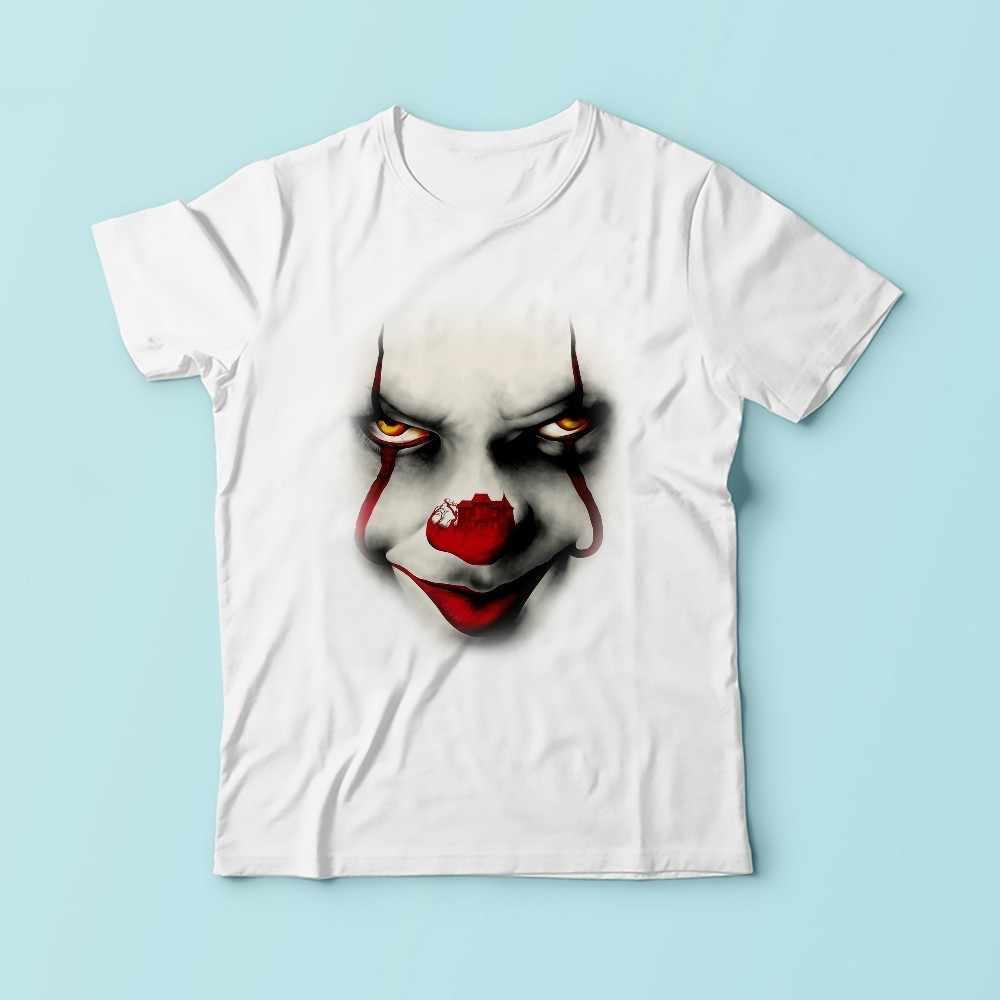 Все они поплавок джокер футболка мужчин 2018 Летние Новые Белые Повседневные Творческий homme Pennywise футболка без клей печати