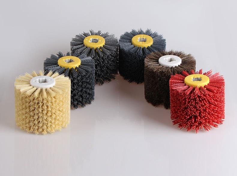 DuPont wire drawing wheel brush drum burnishing polishing wheel grit 400 abrasive wheel