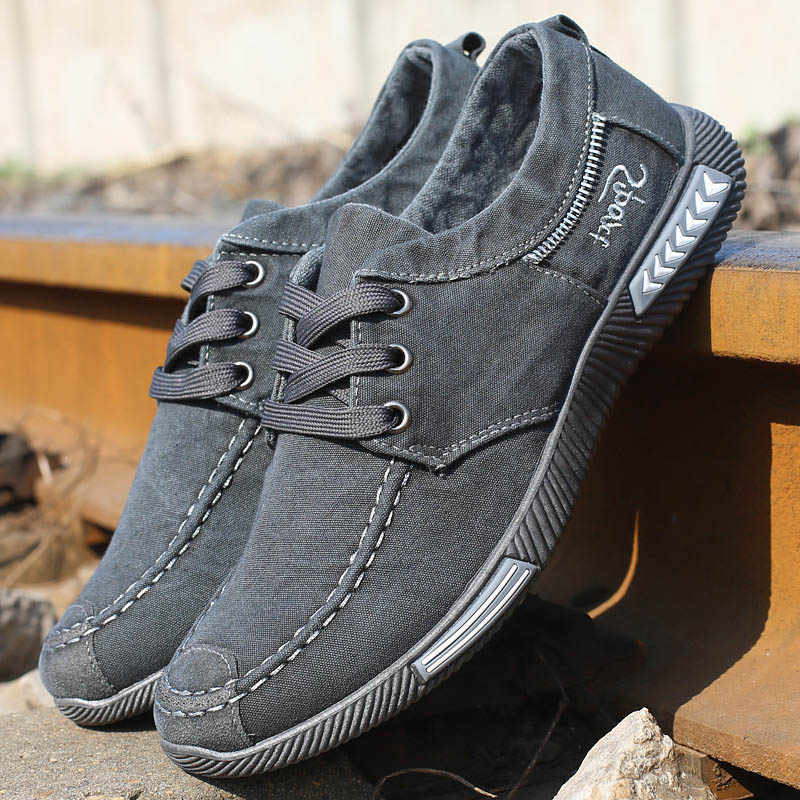 Casual Men Sneakers For Men Shoes Canvas Male Footwear Spring Autumn Breathable Large Size 45 46 New 2019 RME-252-1