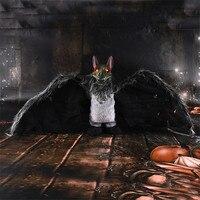 Хэллоуин Электрический летучая мышь скелет ужас свет глаза дом с привидениями бар забавная игрушка Голосовое управление Хэллоуин украшени...