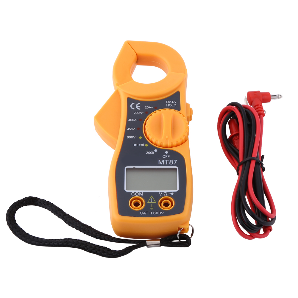 Digital LCD MT87 Multimeter Clamp Multimeter AC DC Voltmeter Ammeter Ohmmeter 400A AC/DC Ohm Current <font><b>Volt</b></font> Tester Tools image